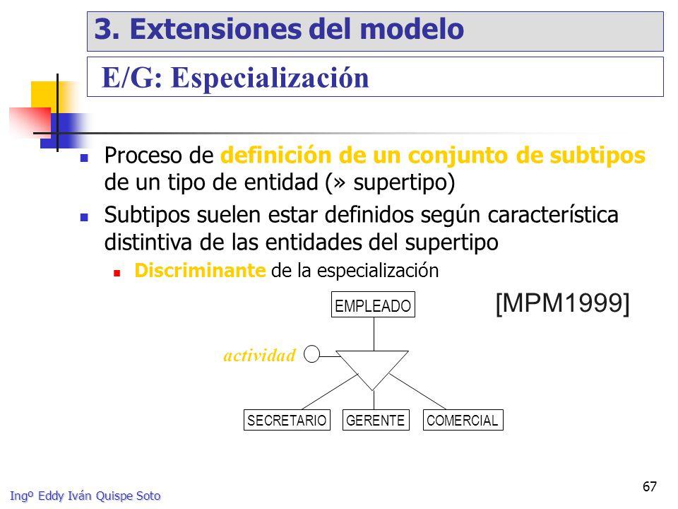 E/G: Especialización 3. Extensiones del modelo [MPM1999]